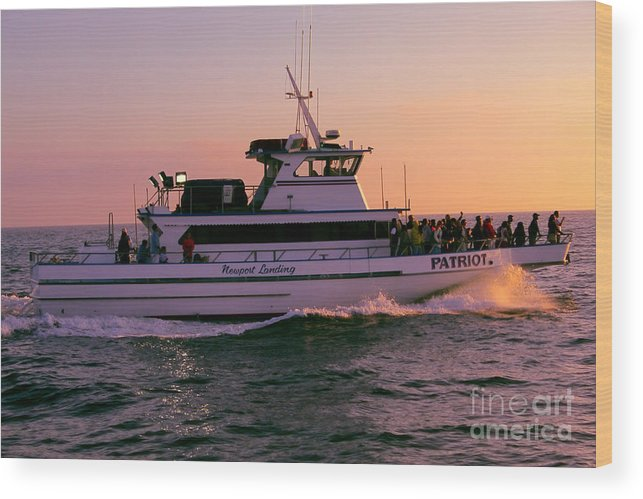 Sunset Wood Print featuring the photograph Patriot On A Mission by Loretta Jean Photography