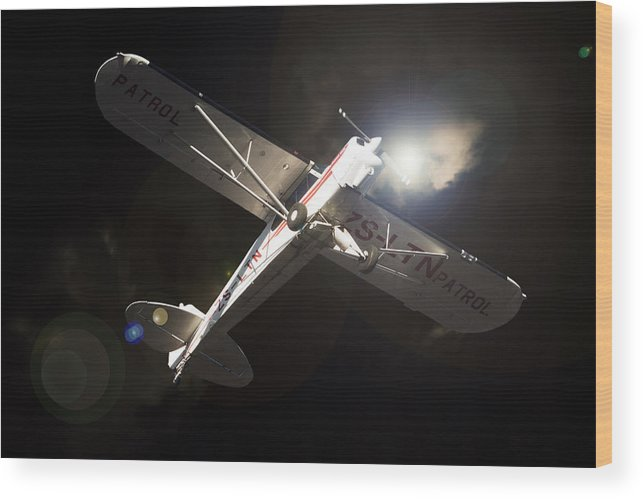 Aviation Wood Print featuring the photograph Patrol by Paul Job