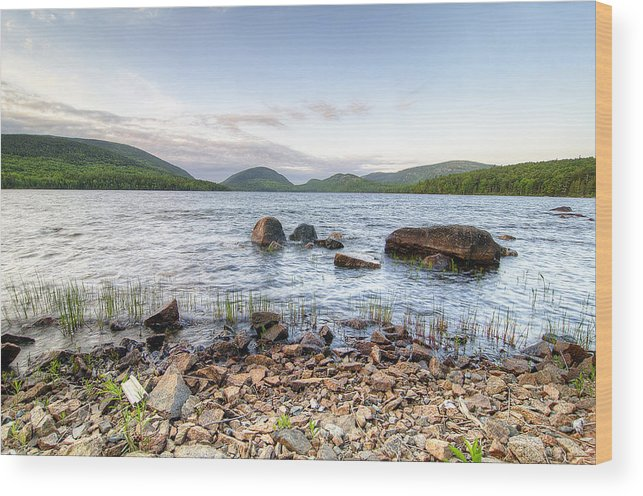 Eagle Lake Wood Print featuring the photograph Peaceful Early Morning At Eagle Lake by Donna Doherty