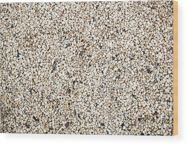 Background Wood Print featuring the photograph Pebbles by Tim Hester