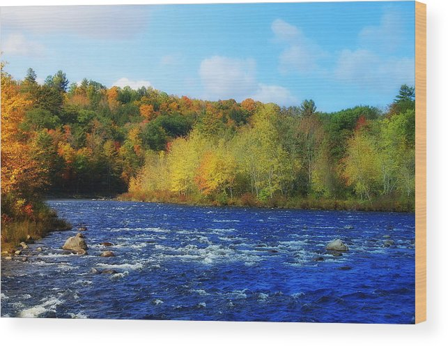 River Pemi Wood Print featuring the photograph Pemigewassett River by Mim White
