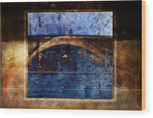 Abstract Wood Print featuring the photograph Penumbra by Carol Leigh