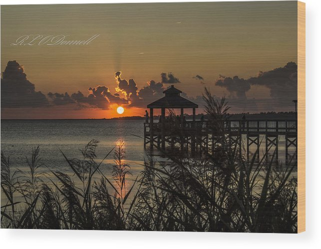 Landscape Wood Print featuring the photograph Perfect Sunset by Rhonda ODonnell
