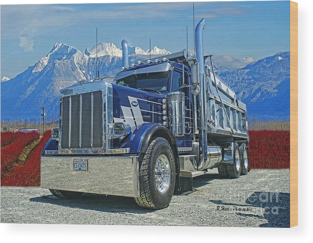 Peterbilt Wood Print featuring the photograph Peterbilt Dumptruck by Randy Harris