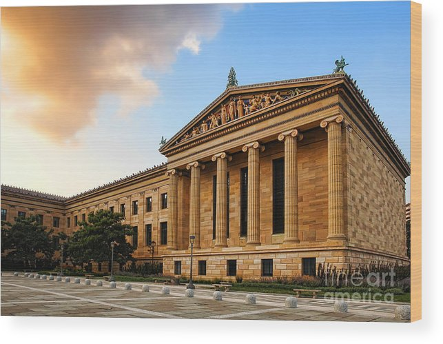 Philadelphia Wood Print featuring the photograph Philadelphia Museum Of Art by Olivier Le Queinec