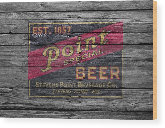 Point Special Wood Print featuring the photograph Point Special Beer by Joe Hamilton