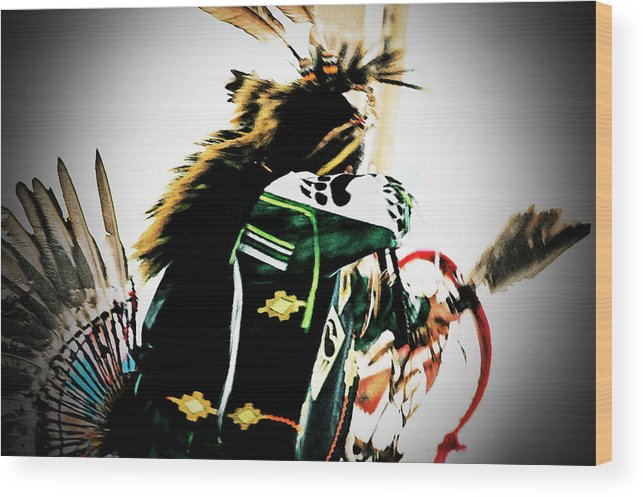 Pow Wow Wood Print featuring the photograph Pow Wow-44671 by Michael Byerley