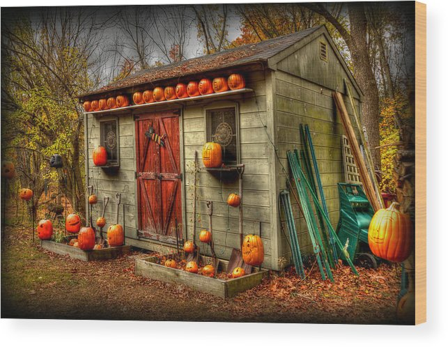 Fall Colors Wood Print featuring the photograph Pumpkin House by Craig Incardone