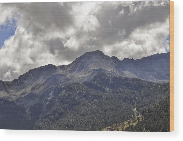 France Wood Print featuring the photograph Pyrenees Mountains by Linda C Johnson