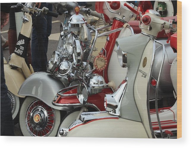 Vespa Wood Print featuring the photograph Quadrophenia by Robert Phelan