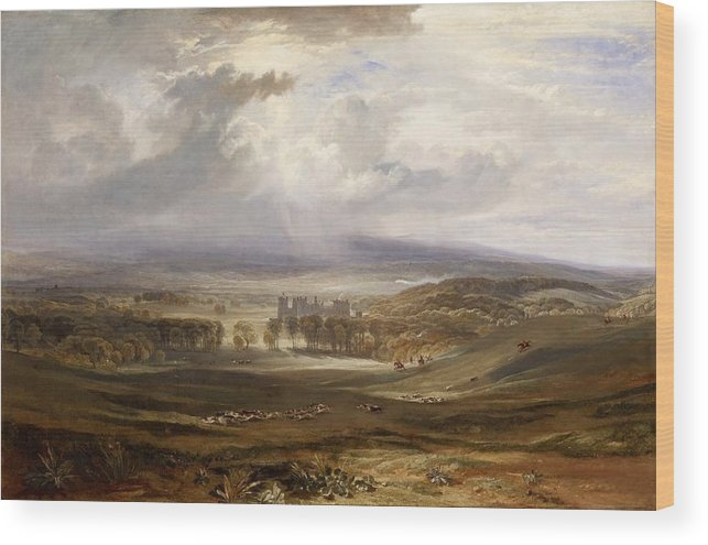 1818 Wood Print featuring the painting Raby Castle by JMW Turner