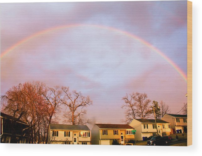 Rainbow Wood Print featuring the photograph Rainbow by Bette Bresette