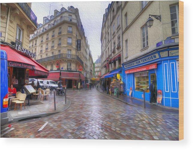 Paris Wood Print featuring the photograph Rainy Day In Paris by Dustin LeFevre