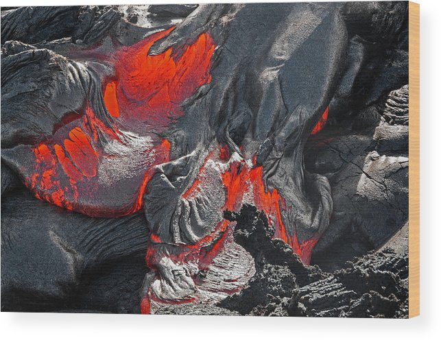 Lava Wood Print featuring the photograph Raked Over The Coals by Jim Southwell