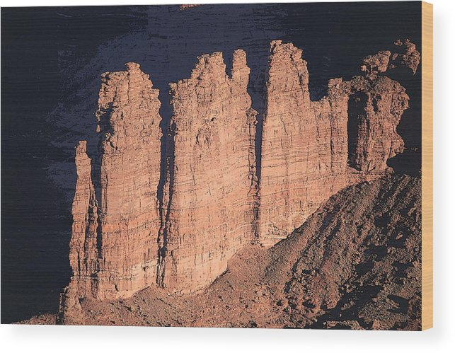 Canyonlands National Park Wood Print featuring the photograph Ramparts by Gregory Yost