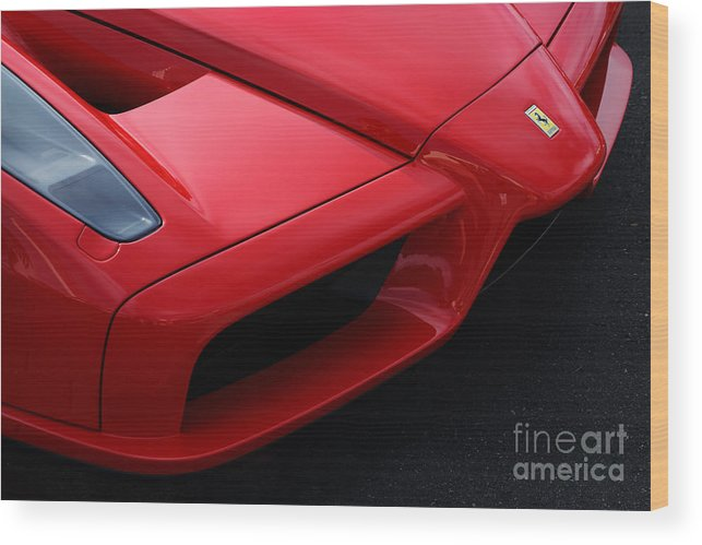 Ferrari Wood Print featuring the photograph Red Enzo by Dennis Hedberg