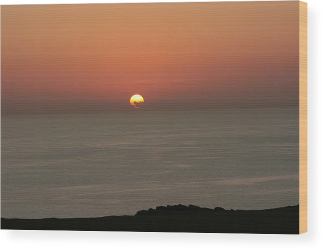 Red Sunset Over Sea Wood Print featuring the photograph Red Sunset Over Sea by Gordon Auld