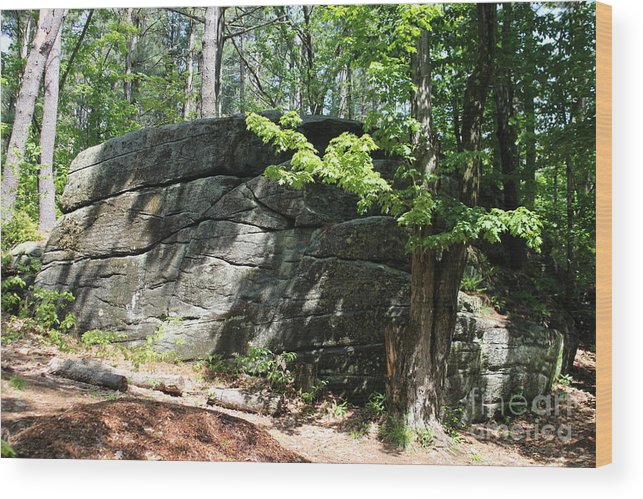 Massachusetts Wood Print featuring the photograph Redemption Rock Princeton Massachusetts by Spirit Baker