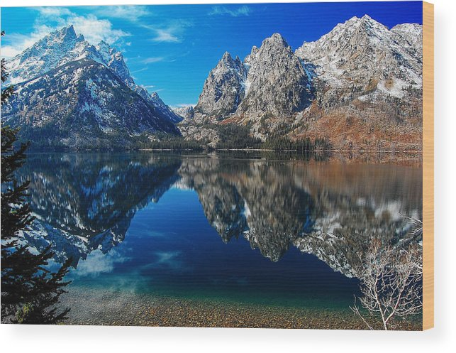 Wyoming Wood Print featuring the photograph Reflection Of Serenity by Jim Southwell