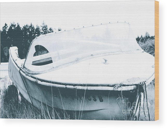 Black Wood Print featuring the photograph Retired From The Ocean by Sheldon Blackwell
