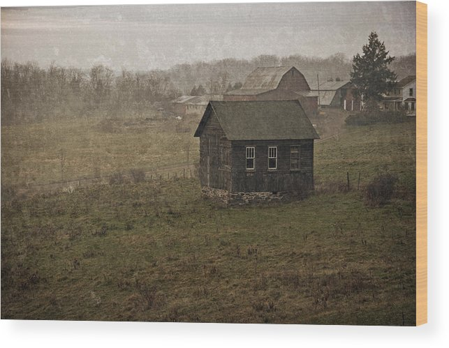 Farm Wood Print featuring the photograph Retired by John Stephens