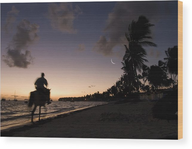3scape Wood Print featuring the photograph Riding On The Beach by Adam Romanowicz