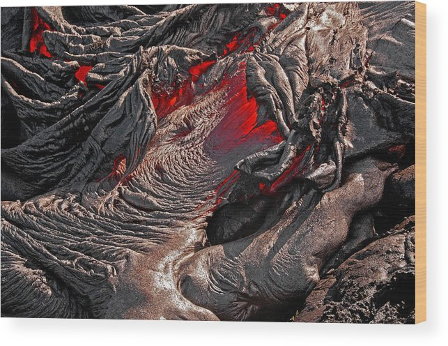 Hawaii Wood Print featuring the photograph Ring Of Fire by Jim Southwell