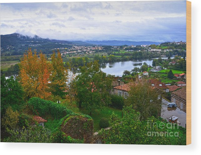 Mino Wood Print featuring the photograph River Mino And Portugal From Tui by RicardMN Photography