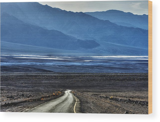 Mountains Wood Print featuring the photograph Road To Hell by Bryan Shane