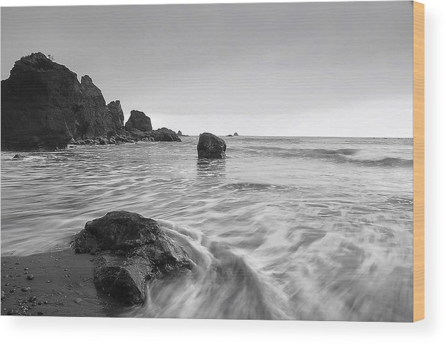 Beach Wood Print featuring the photograph Rock Of Ages by Jim Southwell