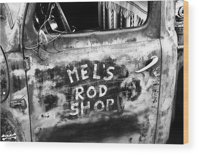Hot Rod Shop Wood Print featuring the photograph Rod Shop Truck by David Lee Thompson