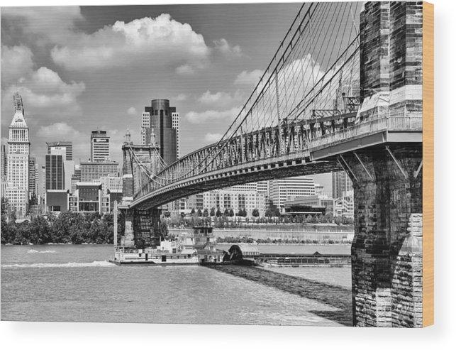 Bridge Wood Print featuring the photograph Roebling Bridge by Diana Boyd