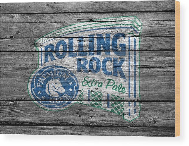 Rolling Rock Wood Print featuring the photograph Rolling Rock by Joe Hamilton
