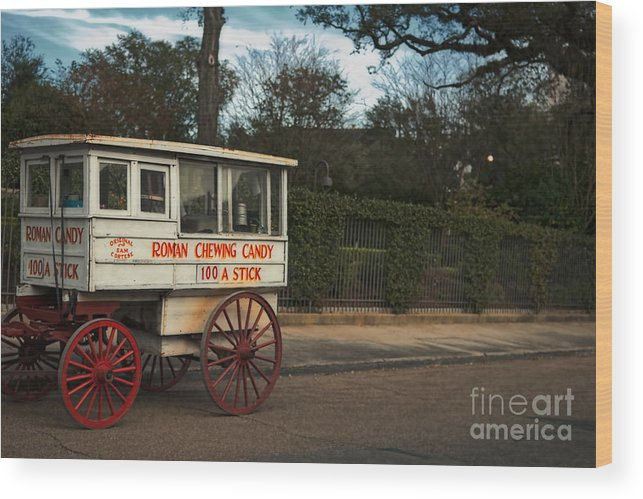 Cart Wood Print featuring the photograph Roman Candy Wagon New Orleans by Kathleen K Parker