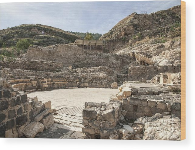 Amphitheater Wood Print featuring the photograph Roman Ruins by Photostock-israel