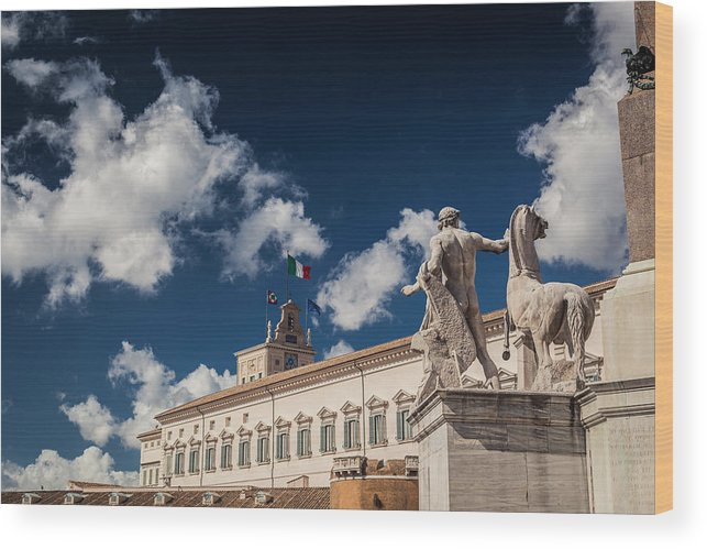 Artistic Wood Print featuring the photograph Rome Monuments by Alex Anashkin