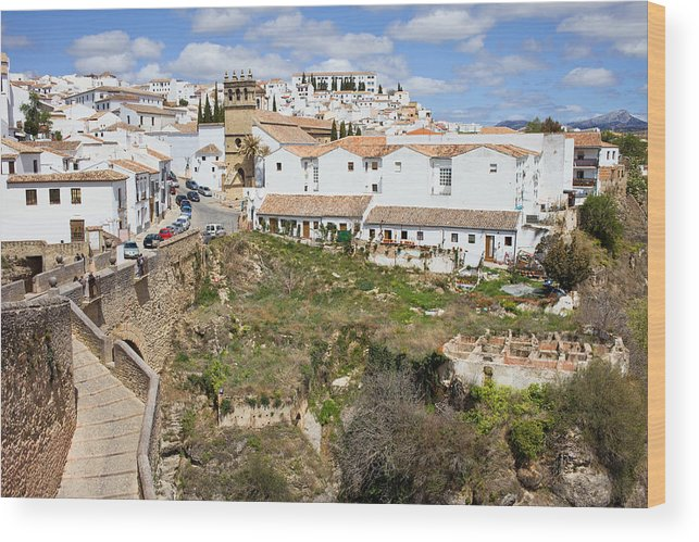 Ronda Wood Print featuring the photograph Ronda Old City In Spain by Artur Bogacki