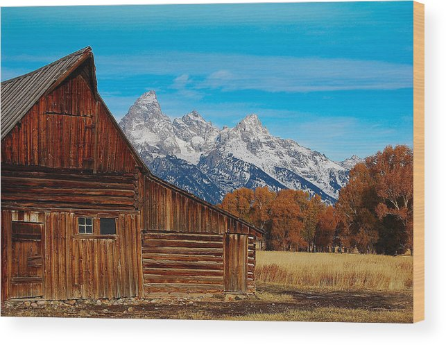 Barn Wood Print featuring the photograph Room With A View by Jim Southwell
