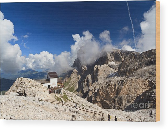 Aerial Wood Print featuring the photograph Rosetta Mount by Antonio Scarpi