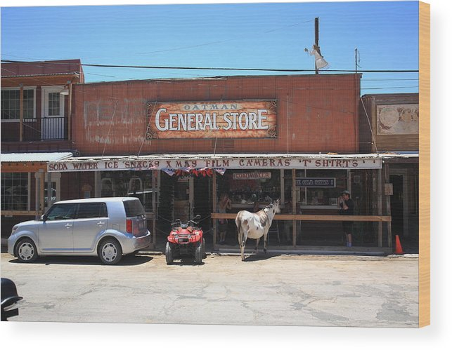 66 Wood Print featuring the photograph Route 66 - Oatman General Store by Frank Romeo