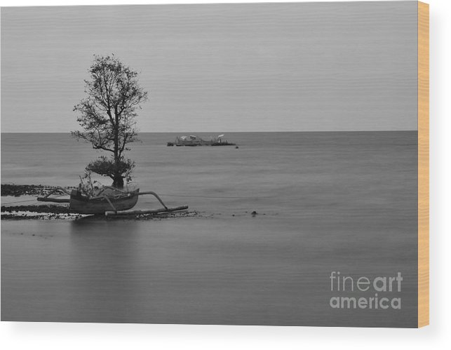 Boat Wood Print featuring the photograph Rowing Boat by Wayan Suantara