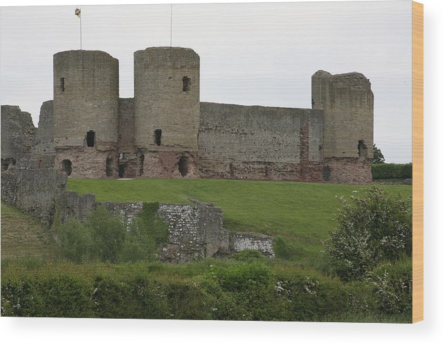 Castles Wood Print featuring the photograph Ruddlan Castle 2 by Christopher Rowlands