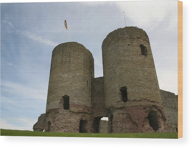 Castles Wood Print featuring the photograph Ruddlan Castle by Christopher Rowlands