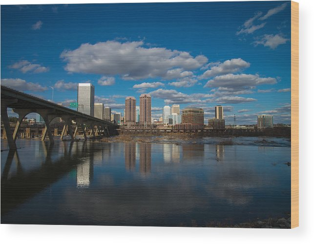 Rva Wood Print featuring the photograph Rva Cityscape by Stacy Abbott