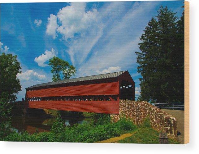 Covered Bridge Wood Print featuring the photograph Sachs Bridge by Kevin Jarrett