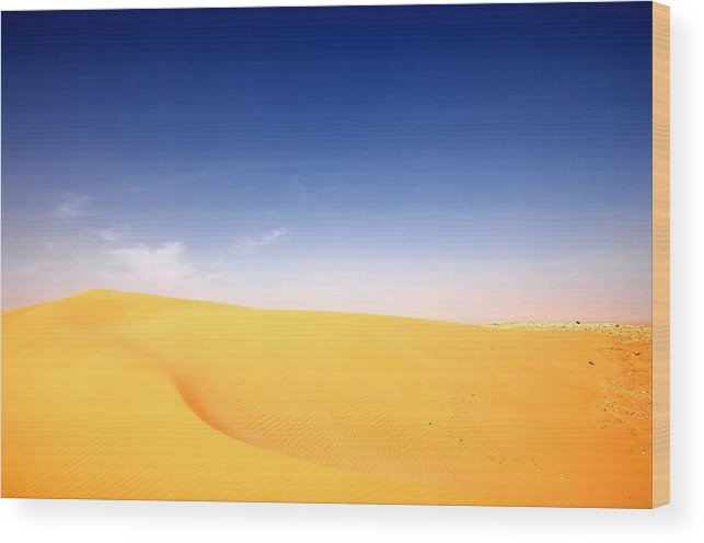 Sand Dunes Wood Print featuring the photograph Sand Dunes by Manu G