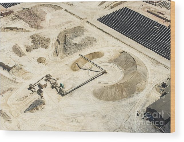 South Africa Wood Print featuring the photograph Sand Mine, South Africa by Peter Chadwick