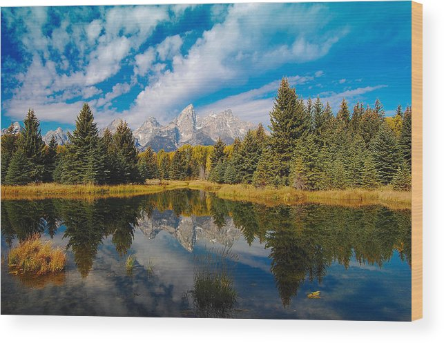 Autumn Wood Print featuring the photograph Schwabacher Autumn by Jim Southwell