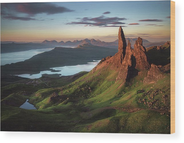 Scotland Wood Print featuring the photograph Scotland - Old Man Of Storr by Jean Claude Castor