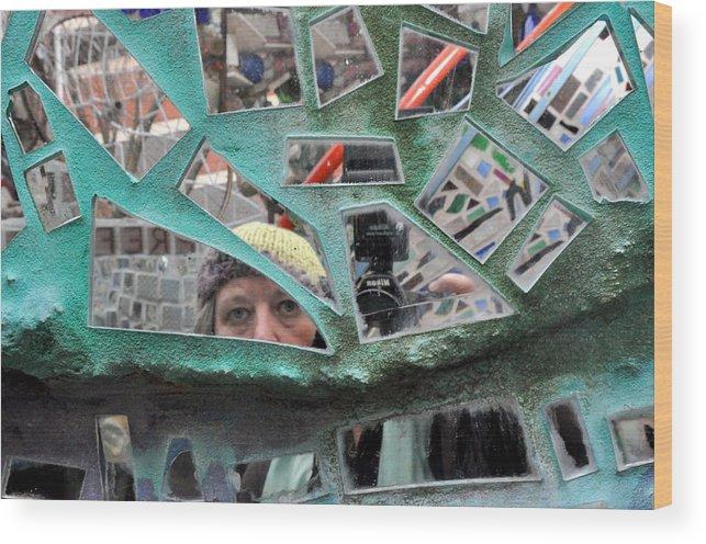 Self Portrait Wood Print featuring the photograph Self Portrait by Diane Lent